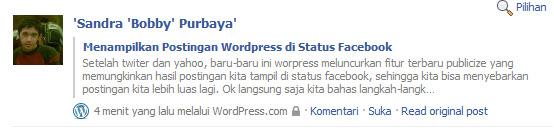 Menampilkan Postingan WordPress di Facebook